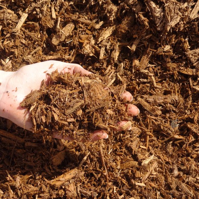 Shredded Golden Cedar Mulch